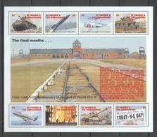 PK237 1995 ST. VINCENT WORLD WAR II WWII 50TH ANNIVERSARY FINAL MONTHS KB MNH - Guerre Mondiale (Seconde)