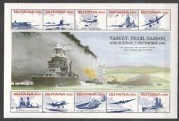 PK227 GUYANA WORLD WAR 2 TARGET PEARL HARBOR 1KB MNH - Guerre Mondiale (Seconde)