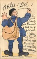 CARTE A SYSTEME COMPLETE HALTE-LA MILITARIA - Cartoline Con Meccanismi