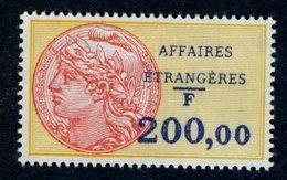 Timbre Fiscal (fiscaux) - Affaires Etrangères N° 40 Neuf - Fiscali