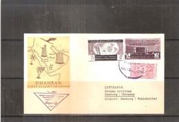 Arabie Saoudite - Lufthansa First Flight From Dhahran To  Hamburg - 1960 (to See) - Saoedi-Arabië