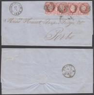Portugal - LAC Yv 15x4 De Vianna 15/02/1865 Vers Porto (RD88) DC5591 - 1862-1884 : D.Luiz I