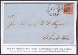 Danemark - LSC Yv 8 De Sjaellandske 29/09/1859 Vers Koskilde - Transit Maritime De Dampsk:Sped.Bureau (RD90) DC5593 - 1851-63 (Frederik VII)