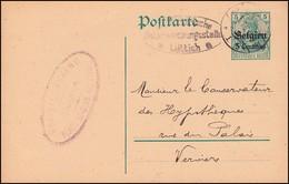 Zensur Belgien Militär. Überwachungsstelle Lüttich Postkarte P 1, LIEGE 2.5.16  - Bezetting 1914-18