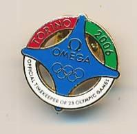 Pin's OMEGA XXèmes Jeux Olympiques D'Hiver De TURIN 2006  Olympic Games - Habillement, Souvenirs & Autres