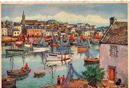 Tréboul Le Port Belle Aquarelle Bateaux De Pêche - Tréboul