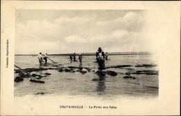 Cp Agon-Coutainville Manche, La Peche Aux Soles - Other Municipalities