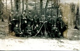 N°1858 T -carte Photo Militaire En Manoeuvres - Regiments