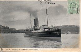 G.W.R  Steamer Leaving Guernsey - Commerce