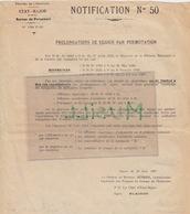 Troyes, Qui Servit Comme Lieutenant à Hà Tinh, Thanh-Thuy, Etc. 1937. Notification N° 50.  Hanoi, 1937 - Documenten