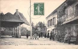 46 .n° 108514 . Livernon . Cafe De La Paix . Cafe Du Commerce .place De La Halle  . - Livernon