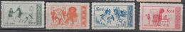 P R CHINA, 1953,   Mural Paintings, Glorius Mother Country, Set 4 V,  MNH,  (**) - Neufs