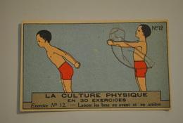 Chromo Bon Point Banania Exquis Dejeuner Sucré La Culture Physique En 30 Exercices Exercice 12 - Altri