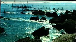 10714) CARTOLINA VASTO-TRABUCCO E SCOGLIERA-VIAGGIATA - Italia