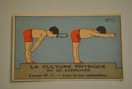 Chromo Bon Point Banania Exquis Dejeuner Sucré La Culture Physique En 30 Exercices Exercice 11 - Altri