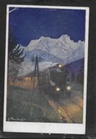 AK 0411  Dampfeisenbahn - Künstlerkarte Um 1910-20 - Eisenbahnen