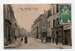 - CPA GONESSE (95) - Rue De Paris 1925 (belle Animation) - Photo-Edition Testard 1454 - - Gonesse