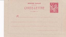 Carte Iris 1fr Rouge B1 Neuve - Biglietto Postale
