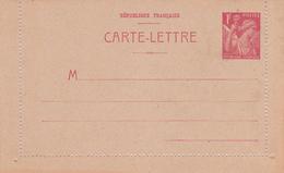 Carte Iris 1fr Rouge B1a Neuve - Biglietto Postale