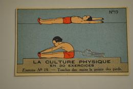 Chromo Bon Point Banania Exquis Dejeuner Sucré La Culture Physique En 30 Exercices Exercice 19 - Altri