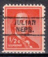 USA Precancel Vorausentwertung Preo, Locals Nebraska, Julian 729 - Vereinigte Staaten