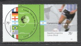 UU177 ONLY ONE IN STOCK ARGENTINA FOOTBALL WORLD CUP KOREA JAPAN 2002 HISTORY MICHEL #2715-6 1SET MNH - Fußball-Weltmeisterschaft