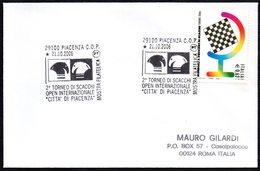 CHESS - ITALIA PIACENZA 2006 - 2° TORNEO OPEN INTERNAZIONALE DI SCACCHI CITTA' DI PIACENZA - MOSTRA FILATELICA - CARD - Scacchi
