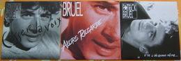 PATRICK BRUEL - Trois 45 Tours - Vinyles