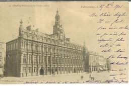 Cpa 59 Valenciennes , Hôtel De Ville Et Théâtre , Voyagée 1901 - Valenciennes