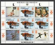 VV858 ONLY ONE IN STOCK OVERPRINT PARAGUAY OLYMPIC GAMES SARAJEVO 1984 MICHEL #3858 18 EU 1KB MNH - Winter 1984: Sarajevo