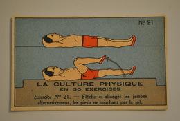 Chromo Bon Point Banania Exquis Dejeuner Sucré La Culture Physique En 30 Exercices Exercice 21 - Altri