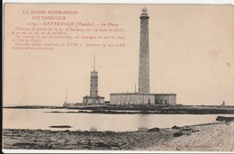 Carte Postale. La  Basse Normandie Pittoresque. Gatteville. La Manche. Le Phare. Manuscrite. - Vuurtorens