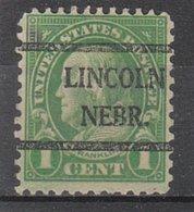 USA Precancel Vorausentwertung Preo, Bureau Nebraska, Lincoln 632-42 - Vereinigte Staaten