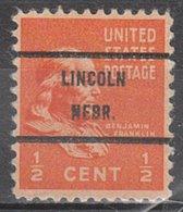 USA Precancel Vorausentwertung Preo, Bureau Nebraska, Lincoln 803-71 - Vereinigte Staaten
