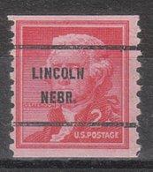 USA Precancel Vorausentwertung Preo, Bureau Nebraska, Lincoln 1055-61 - Vereinigte Staaten