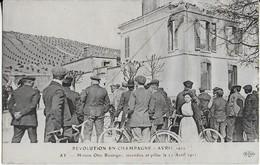 AY -    REVOLUTION EN CHAMPAGNE   ( 11 Avril 1911 )  :Maison Otto Bessinger Incendiée Et Pillée - Ay En Champagne