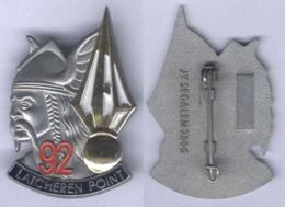 Insigne De La Compagnie D'Eclairage Et D'Appuis Du 92e Régiment D'Infanterie - Army