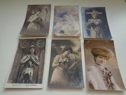 Beau Lot De 60 Cartes Postales De Fantaisie Femmes Femme   Mooi Lot Van 60 Postkaarten Fantasie Vrouwen Vrouw - 60 Scans - 5 - 99 Postcards