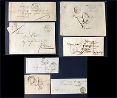 Lot 7 Lettres Marques Postales Pas-de-Calais Précurseurs Marcophilie Cachet Fleuron Arras Béthune Saint Pol - 1801-1848: Vorläufer XIX