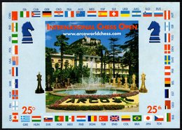 CHESS - ITALIA ARCO (TN) 2003 - 25° FESTIVAL SCACCHISTICOINTERNAZIONALE OPEN - CARTOLINA UFFICIALE VIAGGIATA - Scacchi