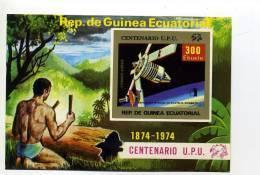 UPU 1974-Satellites Russe-Tam Tam-Guinée Equatoriale-MI B139***MNH- NON DENTELE-Valeur 20 Euro - Espacio
