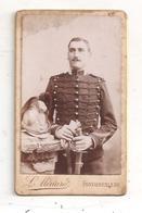 C.D.V. Militaire 7è  Second Empire -Fontainebleau - Casque  Militaire -(D.4580) - Anciennes (Av. 1900)