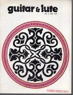 Revue De Musique -  Guitar & Lute N° 6 1978 - Musique