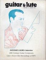 Revue De Musique -  Guitar & Lute N° 12 Antonio Lauro - Musique