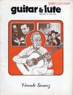 Revue De Musique -  Guitar & Lute N° 10 Vicente Gomez - Musique