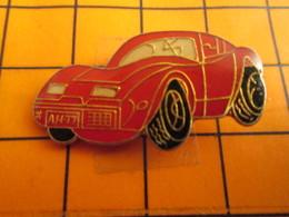 2619 Pin's Pins / Beau Et Rare / THEME AUTOMOVILES / CORVETTE ROUGE AH 77 - Corvette