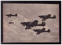 DT- Reich (008904) Propagandakarte Stukas Ju87 Beim Angriffsflug Gegen Feindliche Stützpunkte, Ungebraucht - Alemania