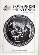 Revue De Musique -  I Quaderni Dell Ateneo N° 17-18 - 1989 - Musique