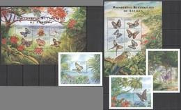 Y159 ANTIGUA & BARBUDA WONDERFUL BUTTERFLIES #3116-27 MICHEL 38 EURO 2KB+3BL MNH - Schmetterlinge