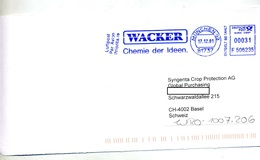 Devant De Lettre Flamme Ema Munich Chimie Wacker - [7] Repubblica Federale